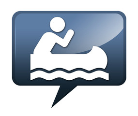 """Speech bubble shaped icon """"Canoeing"""""""