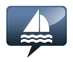 "Speech bubble shaped icon ""Sailing"""