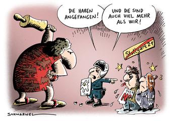 Stuttgart 21 - Die Demonstranten haben aber angefangen!