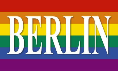 Berlin Regenbogen flagge