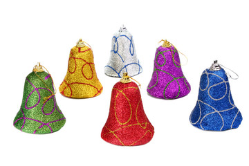 colors handbell decoration for a new-year tree