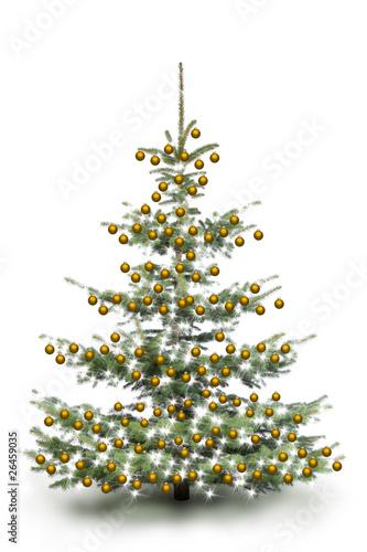 gold dekorierter weihnachtsbaum von by studio. Black Bedroom Furniture Sets. Home Design Ideas