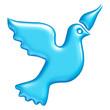 Oiseau bleu flashy