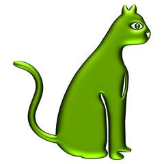 Chat vert électrique