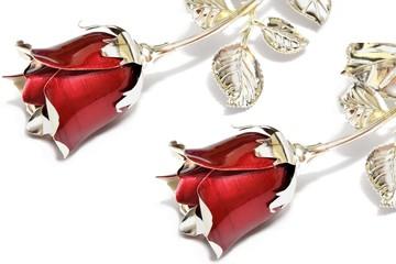 Rose in argento