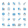 Blue Gray Web Icons - Medicine & Health