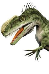 monolophosaurus big head white background