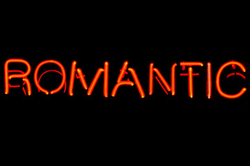 Romantic neon sign