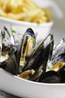 mussel seafood and french frie