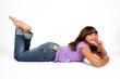 Mädchen liegend
