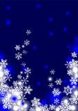 Weihnachtskarte Sternenhimmel Schneeflocken