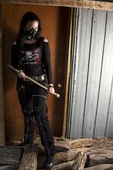 Axe weilding goth