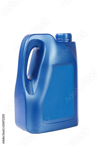 blue engine oil bottle