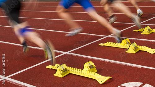 Leinwandbild Motiv Sprintstart