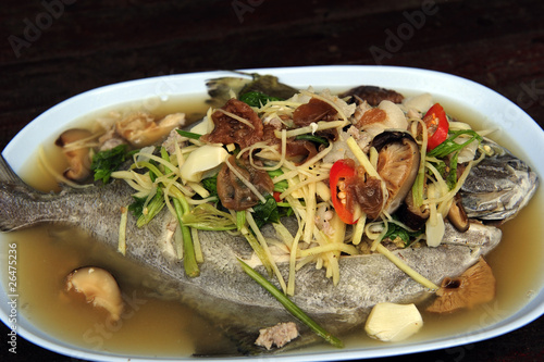 The chinese style boiled fish