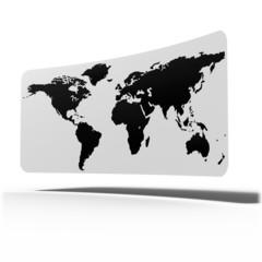worldmap curve card