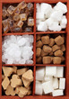 Sugar collection - various kinds of sugar cubes