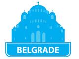 Belgrade skyline poster