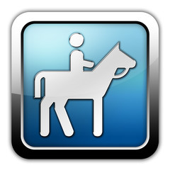 "Glossy Square Icon ""Horse Trail"""