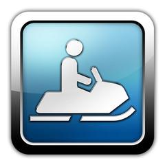 "Glossy Square Icon ""Snowmobiles"""