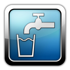 """Glossy Square Icon """"Running Water"""""""