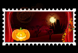 "Briefmarke ""Halloween"" (mit Clippfad)"