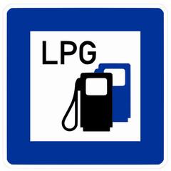 Tankstelle LPG Gas