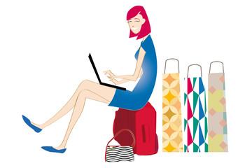 Shop - Donna seduta con pacchi 2