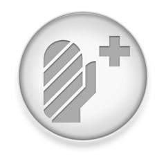 """White Button / Icon """"Injury / Emergency"""""""