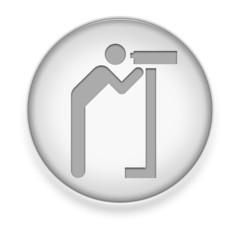 "White Button / Icon ""Viewing Area"""