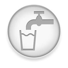 "White Button / Icon ""Running Water"""