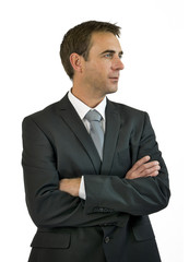 businessman looking left