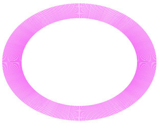 Frame illusion pink oval