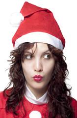 Curious Santa Woman