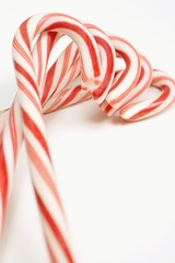 A Group Of Candy Canes