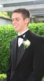 Smiling Prom Teen Boy In Profile