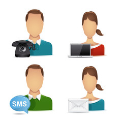 people communications icons