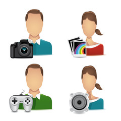 people multimedia icons