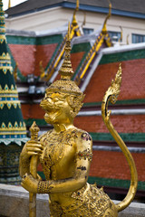 Golden Statue, A kind of mythological soldier, Landmark of Bangk