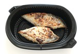 fried flounder in a plastic box poster