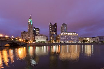 Skyline at Night, Columbus, Ohio