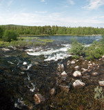 Fast rives of Lapland