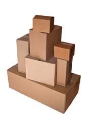 Stapel von Paketen und Päckchen
