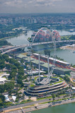 Singapore Flyer, world biggest ferris wheel poster