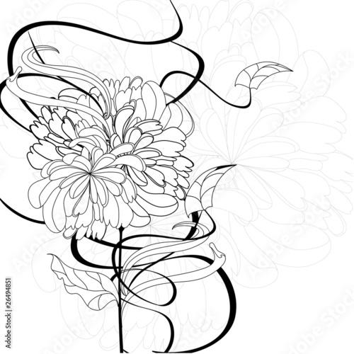 Monochrome floral background © Regina Jersova