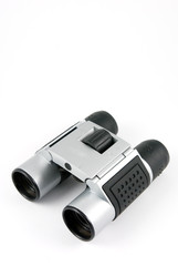 silver pair of binoculars