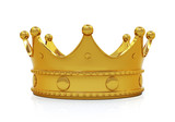 Golden crown - front view