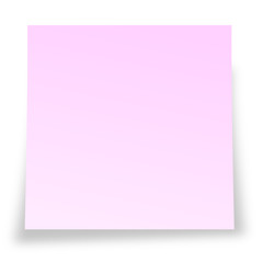 Pink sticky notelet gay message concept