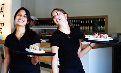 Service with a smile in a shushi bar israel