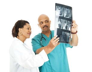 Medical Team Reviews X-Rays